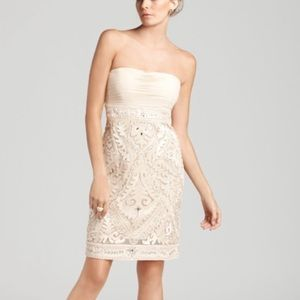 Sue Wong strapless embroidered beaded dress